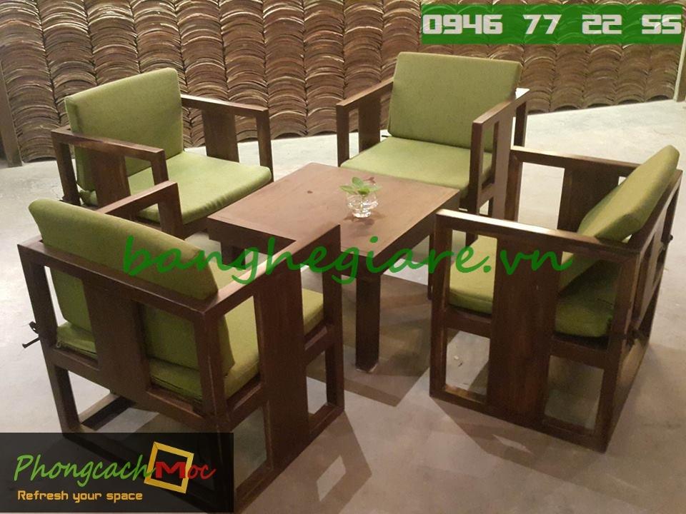 Bàn ghế gỗ cafe MC72